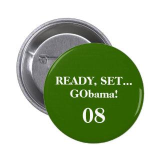 REDO UPPSÄTTNING… GObama! , 08 - Skräddarsy Standard Knapp Rund 5.7 Cm