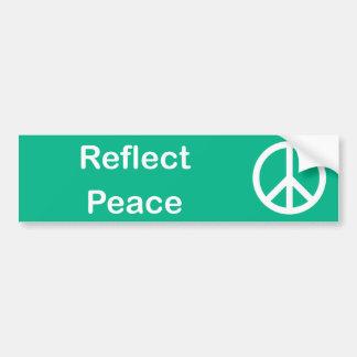 Reflektera fredbildekalet bildekal