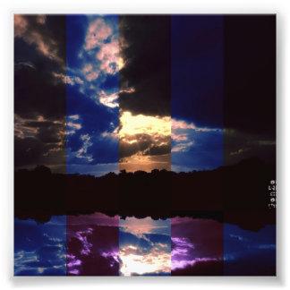 Reflektera naturen fototryck