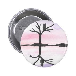 Reflekterad uggla standard knapp rund 5.7 cm