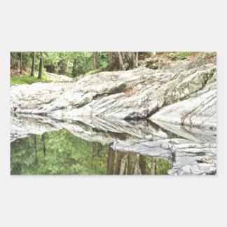 Reflekterande bassäng - Landscape.jpg Rektangulärt Klistermärke