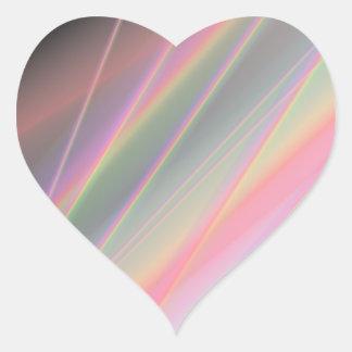 Reflekterande regnbågar hjärtformat klistermärke