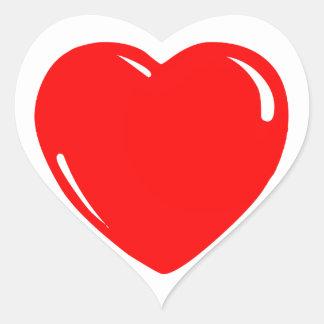 Reflekterande röd hjärta hjärtformat klistermärke