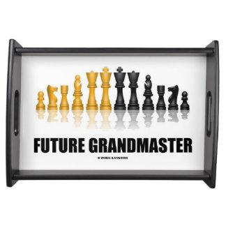 Reflekterande schackuppsättning för framtida serveringsbricka