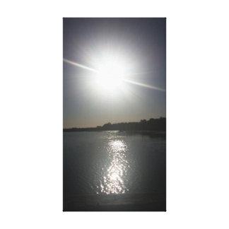 Reflekterande sol canvastryck