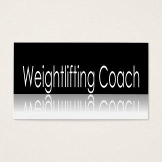 Reflekterande text - Weightliftinglagledare Visitkort