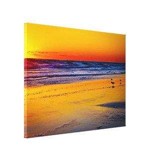 Reflexion av soluppgången på Atlantic Ocean & Canvastryck