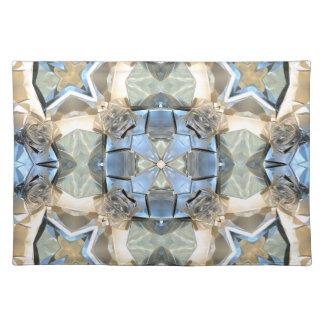 Reflexioner av blått och guld bordstablett