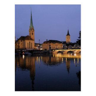 Reflexioner i Zurich, Schweitz vykort