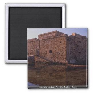 Reflexioner medeltida fort, Nea Paphos, Cypern Magnet