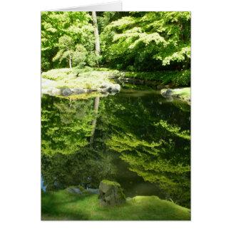 Reflexioner på den Nitobe trädgården Hälsningskort