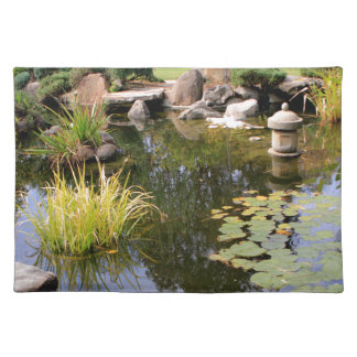 Reflexioner trädgårds- damm för japan bordstablett