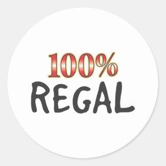 Regal 100 procent runt klistermärke