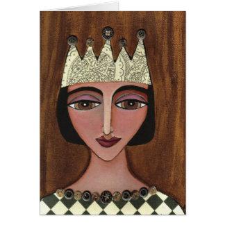 Regal drottning - hälsningkort (3) hälsningskort