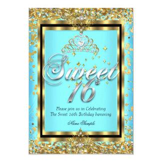 Regal för guldkricka för Princess Sötsak 16 party 12,7 X 17,8 Cm Inbjudningskort
