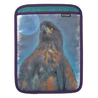 Regal ung örn- och månemålning iPad sleeve