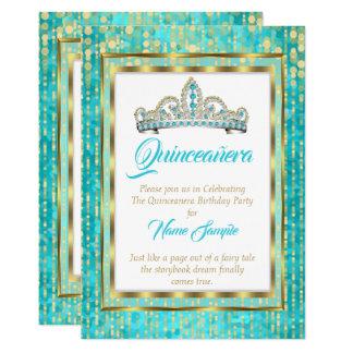 Regal vit för Princess Slösa Kricka Quinceanera 12,7 X 17,8 Cm Inbjudningskort
