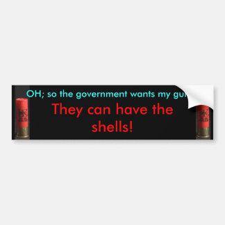 Regeringen kan ha snäckorna - bildekal