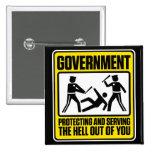 Regerings- varning knäppas knappar med nål