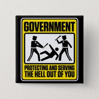 Regerings- varning knäppas standard kanpp fyrkantig 5.1 cm