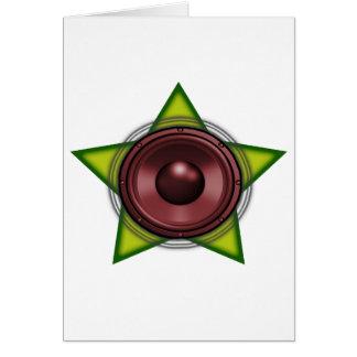 Reggae Dubstep för dub för WooferRasta stjärna Hälsningskort