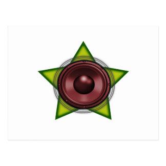 Reggae Dubstep för dub för WooferRasta stjärna Vykort