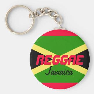 REGGAE Jamaica Rund Nyckelring