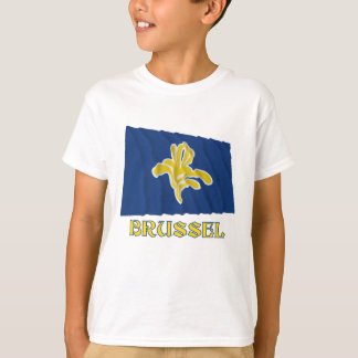 Region av Bryssel som vinkar flagga med namn T-shirts
