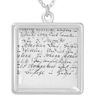 Register av Bachs bröllop till Anna Silverpläterat Halsband