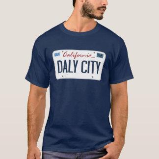 RegistreringsskyltDaly City Kalifornien T skjorta T Shirts