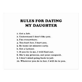 Regler för att datera min dotter vykort