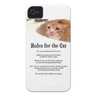 Regler för katt iPhone 4 Case-Mate fodraler