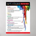 Regler för konstklassrumet affischer