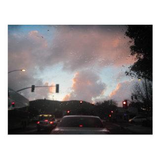 Regna Falliing på solnedgången i San Luis Obispo, Vykort