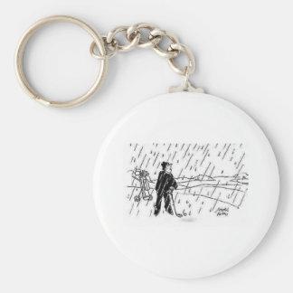 regna golfaren rund nyckelring
