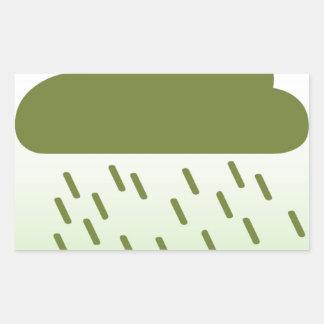 Regna inte på min dagsamling rektangulärt klistermärke