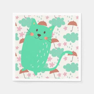 Regna katter papper servetter