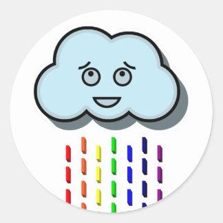 Regna molnet runt klistermärke