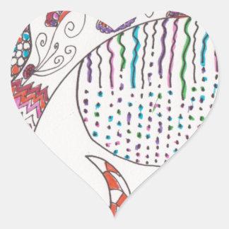 Regna på staden hjärtformat klistermärke