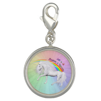 Regnbågar och Unicorns Charms