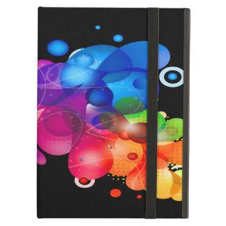 Regnbåge av droppandear och Splats iPad Air Fodral