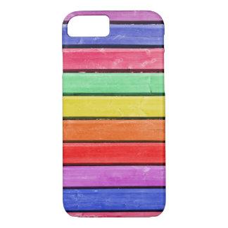 Regnbåge befläckt Wood iPhone 7