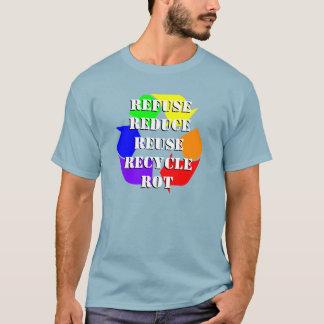 Regnbåge fem rs skjorta tee shirt
