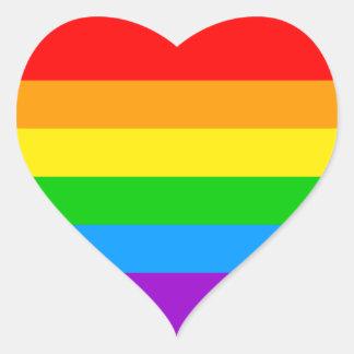 Regnbåge för Corey tiger80-tal Hjärtformat Klistermärke
