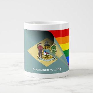 Regnbåge för Delaware flaggagay pride Jumbo Mugg