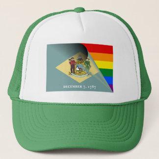 Regnbåge för Delaware flaggagay pride Keps