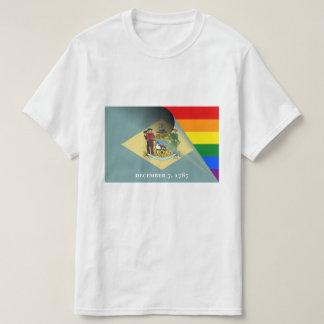 Regnbåge för Delaware flaggagay pride Tshirts