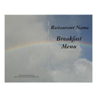 Regnbåge för meny för restaurangtillförselfrukost
