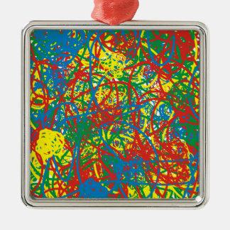 Regnbåge för stänk för färg för färgrik tryckvåg julgransprydnad metall