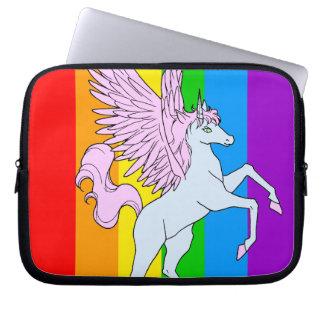 Regnbåge för Unicorn för Corey tiger80-tal Datorfodral